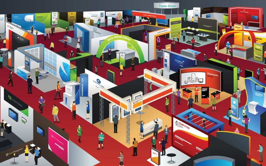 Trade fair stand and content