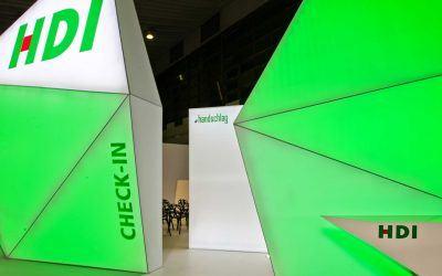 Award-winning exhibition stand for HDI Versicherung